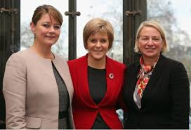 Leanne Wood, Nicola Sturgeon et Natalie Bennett © The New Statesman