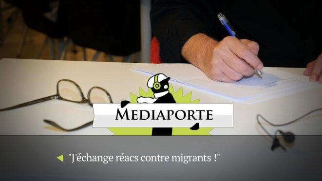 MediaPorte: «J'échange réacs contre migrants»