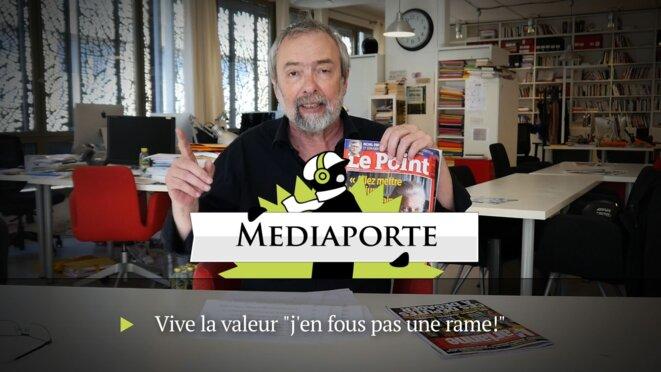"""MediaPorte: «Vive la valeur: """"Je n'en fous pas une rame""""»"""