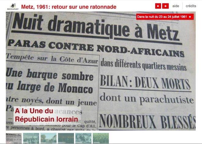 A Metz, en pleine guerre d'Algérie