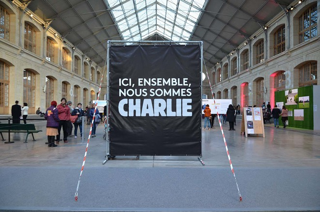 La France Charlie, ici le 104 à Paris.
