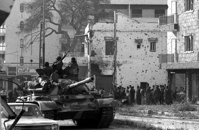 Beyrouth entrée forces syriennes nov 1976 © Philippe Rochot