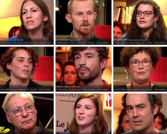 Les visages d'un mouvement social déjà «hors normes»