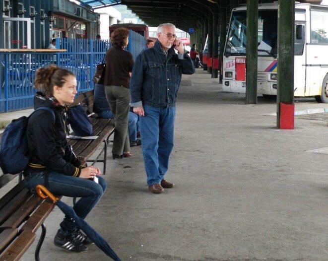 Nataša à la gare routière de Banja Luka © Maryline Dumas