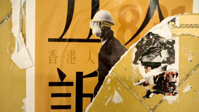 A Hong Kong, les affiches de la révolte