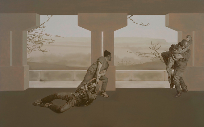 Guillaume Bresson, peintures en chantier