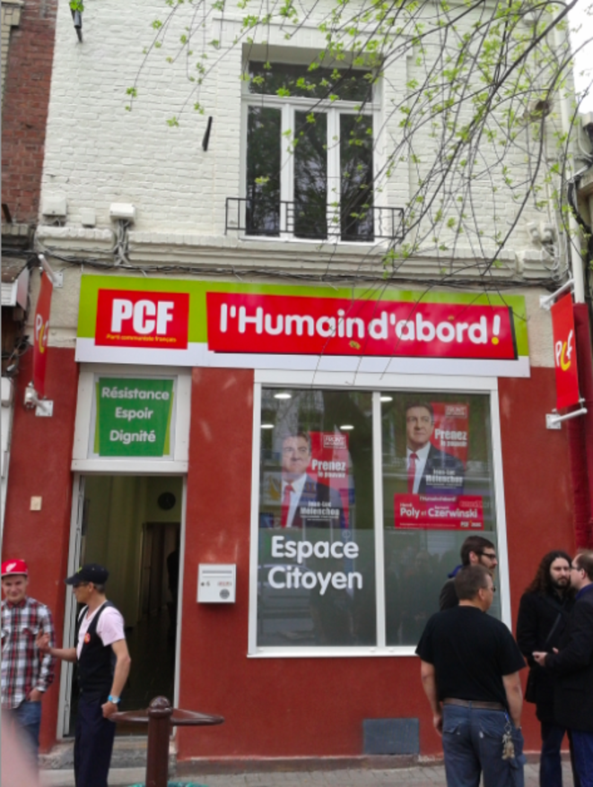 Le local du PCF à Hénin-Beaumont, le 12 mai 2012