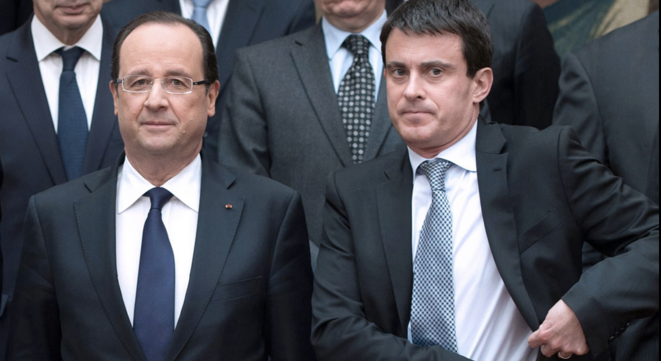 François Hollande et Manuel Valls © Reuters