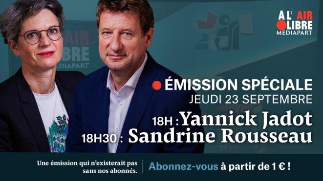 Face à Mediapart: Yannick Jadot et Sandrine Rousseau