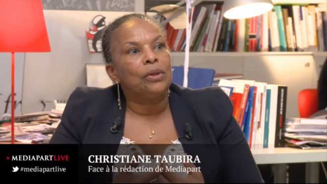 «En direct de Mediapart» avec Christiane Taubira