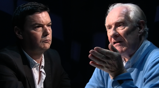 «Contre-courant»: le débat Badiou-Piketty