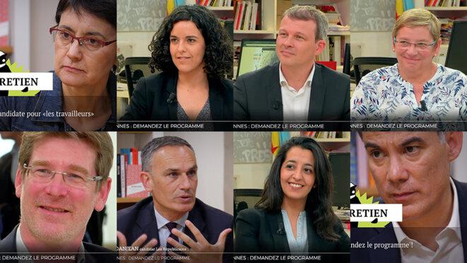Européennes: des candidat·e·s face à la rédaction