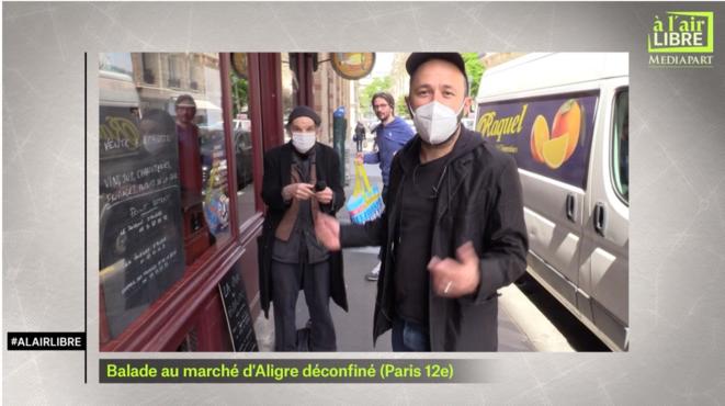 «A l'air libre»: rencontre avec un médecin de l'Oise, balade au marché d'Aligre en cours de déconfinement