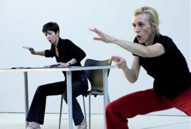 Mathilde Monnier, Christine Angot, spectacle © DR