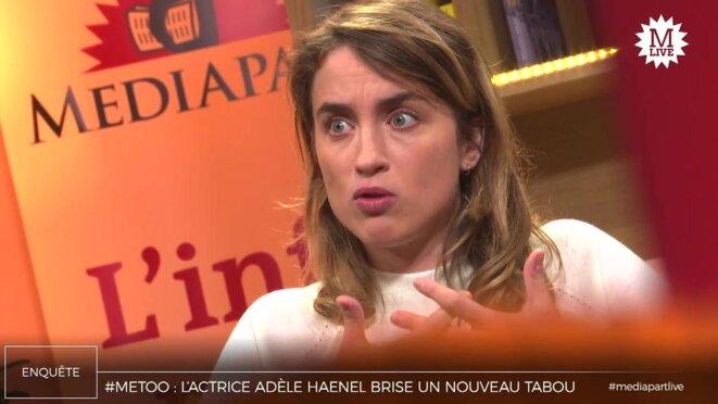 Violences sexuelles: Adèle Haenel veut que «les bourreaux se regardent en face»