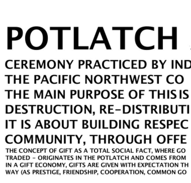 Potlatch leblog