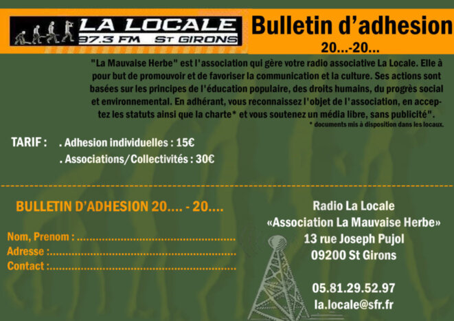Radio la locale, 97.3 à St Girons et alentours.