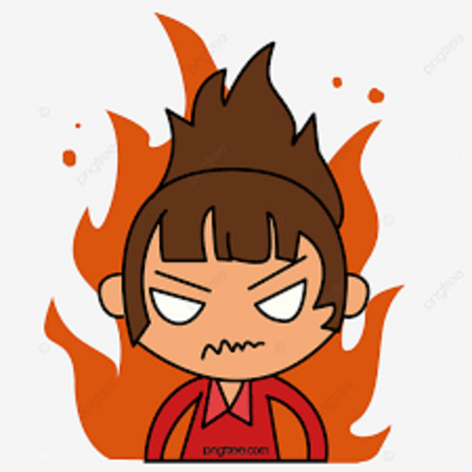 Une fille en colère