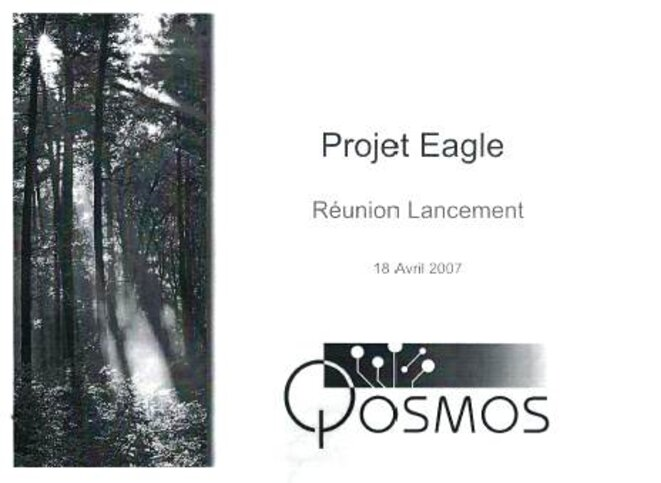 Lancement du programme Eagle au sein de Qosmos  © jamesinparis