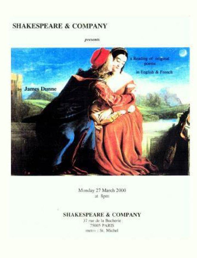 Affiche Shakespeare & Co. © jamesinparis
