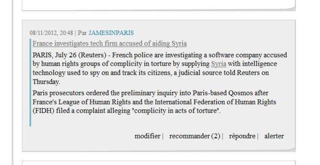 Commentaire © Reuters/jamesinparis