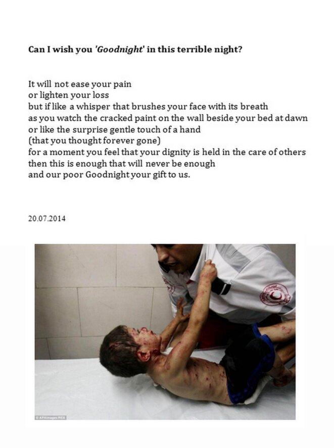 Poem for Gaza  © James Dunne