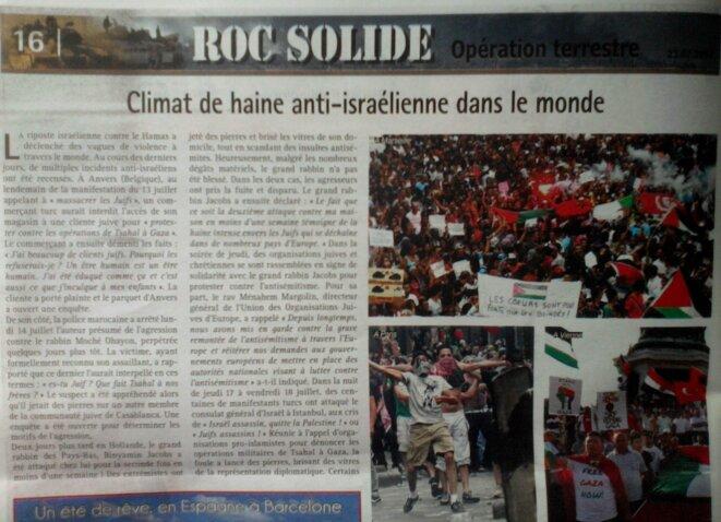 Climat de haine anti-israélienne dans le monde  © Hamodia