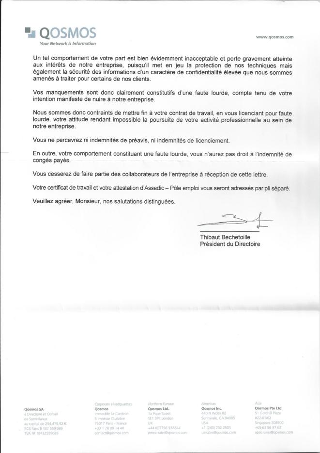 """Licenciement pour """"faute lourde"""" © jamesinparis"""