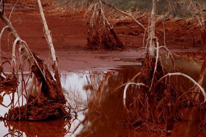 Mange-Garri, poubelle à boues rouges