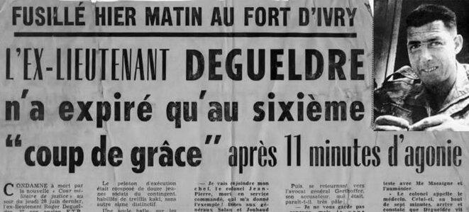 DEGUELDRE Roger lieutenant 1er REP - fusillé au Fort d'Ivry le 6 juillet 1962 Pr.