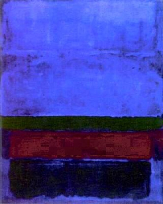 Bleu -vert  -brown © M.Rothko