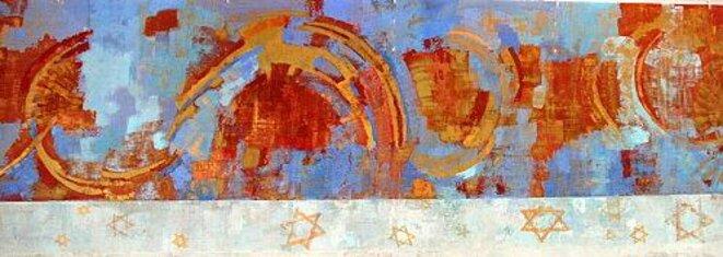 Mur partiel  de la synagogue crée  par le Studio Caggini   à Marseille  © Luce Caggini