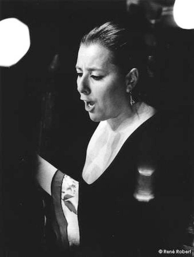 Gema Caballero lors du Festival Voix de femmes en 2009 © René Robert
