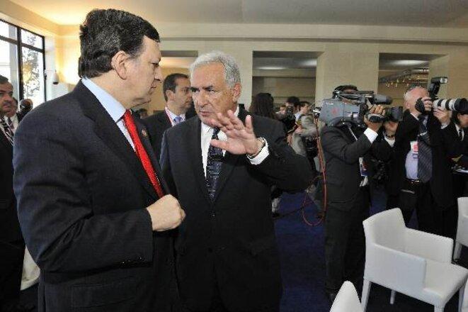 DSK with EC President José Manuel Barroso. © EU.
