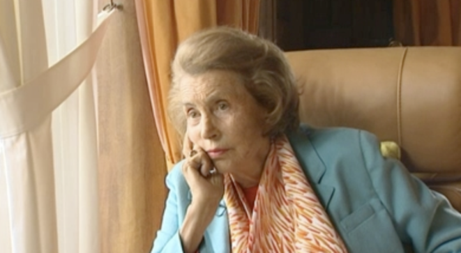 Inspirational? Liliane Bettencourt during a French TV interview. © France 3