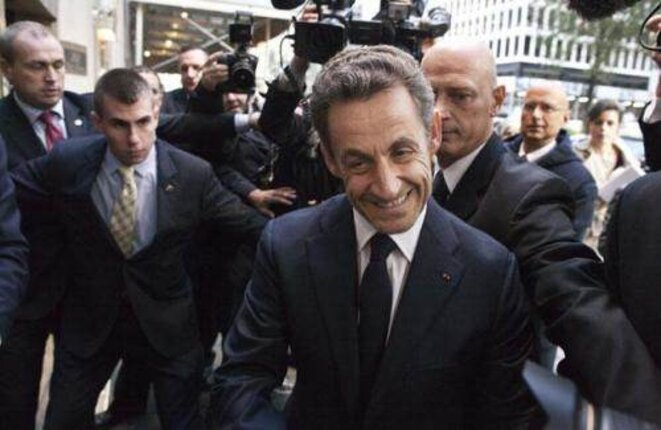 Nicolas Sarkozy on conference tour in New York, October 2012. © Reuters