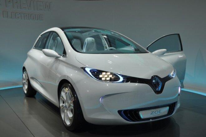 Renault's  future electric city car 'Zoé'. © dr