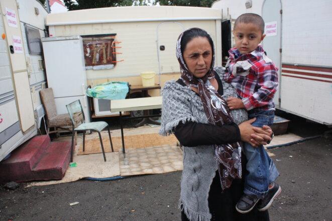 Roma reinsertion camp in Montreuil, near Paris. © E. Berthaud