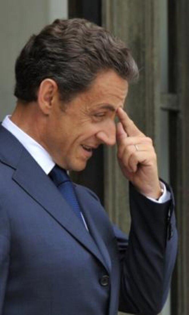 No control: President Nicolas Sarkozy. © Reuters