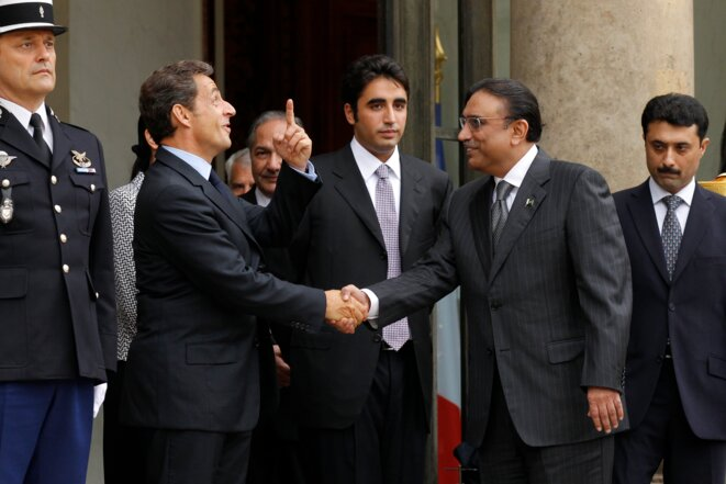 President Nicolas Sarkozy hosting Pakistani Presidnt Asif Ali Zardari, August  2010.