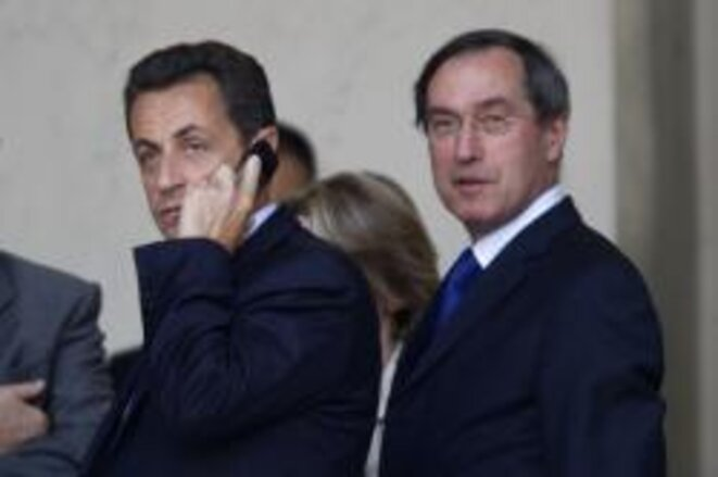 Nicolas Sarkozy with Claude Guéant. © Reuters