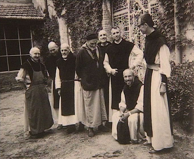 Monks of Tibhirine; victims included Father Christophe, 2nd. from right.