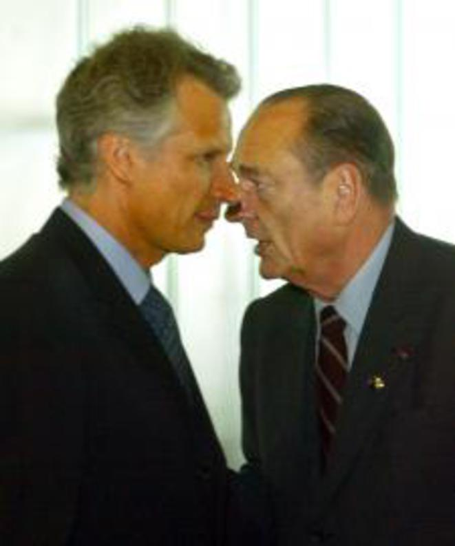 Dominique de Villepin (left) with Jacques Chirac. © Reuters