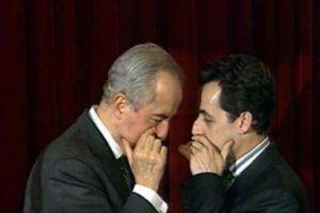 Confidential: Nicolas Sarkozy and Edouard Balladur.