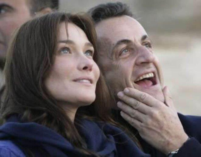 Carla Bruni and Nicolas Sarkozy. © Reuters
