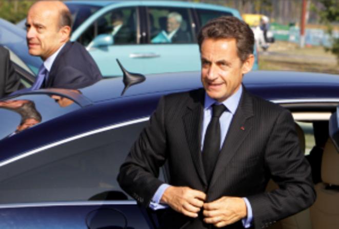In: Alain Juppé (left) with Nicolas Sarkozy. © Reuters