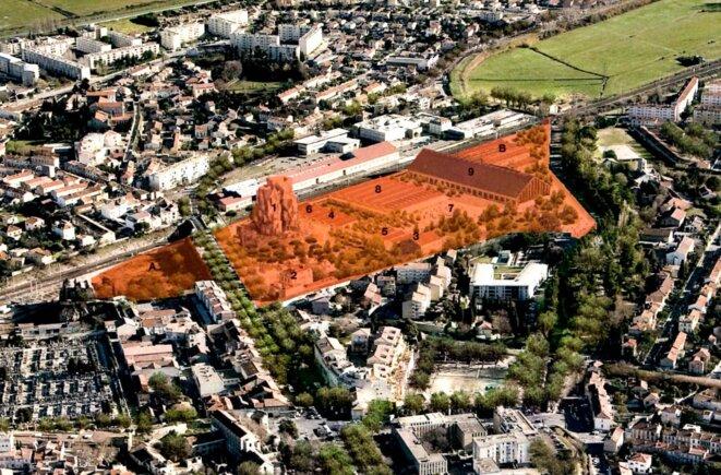 Plan du Campus Luma © Luma/Gehry