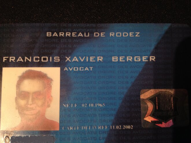 carte d'avocat © berger