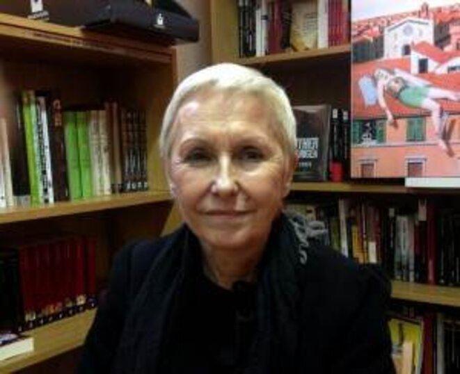 Danielle Thiéry, en la librería Estudio en Escarlata. © Javier Valenzuela