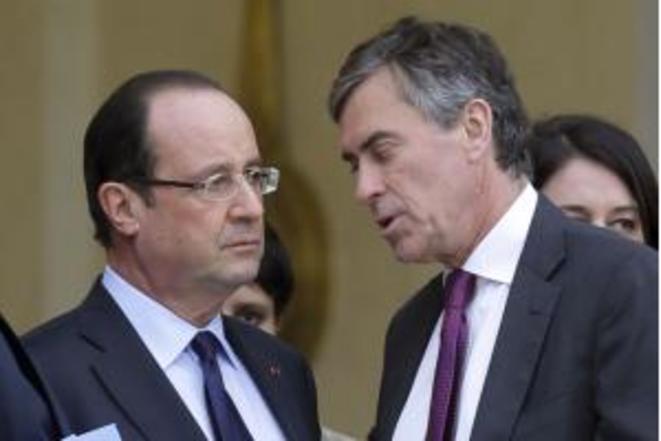 F.Hollande y J.Cahuzac © Reuters